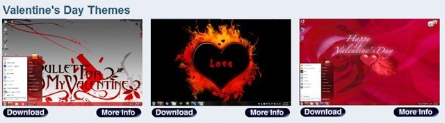 Valentine's Day Themes for Windows 7