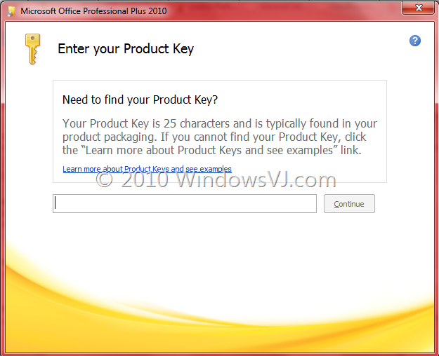 Microsoft office 2010 product key.